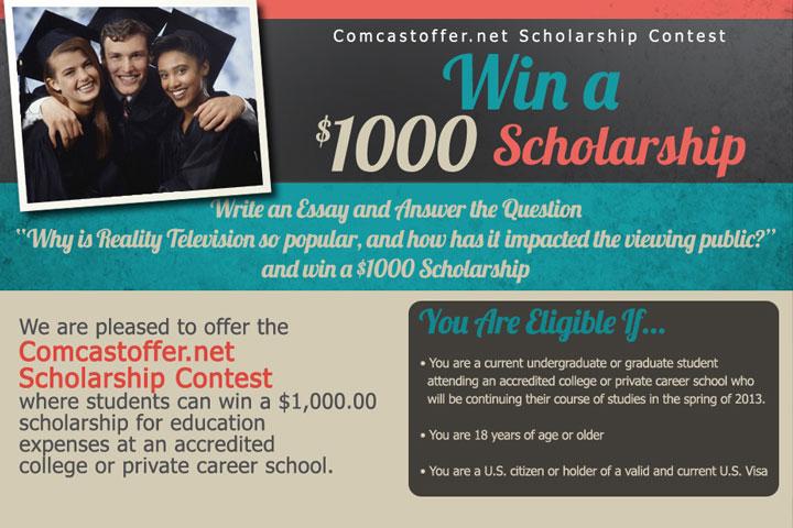 Comcastoffer.net Scholarship Contest