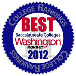washington monthly best baccalaureate colleges 2012