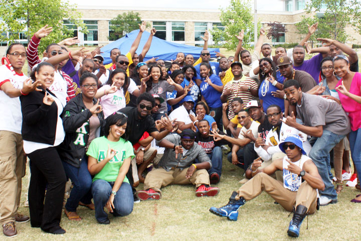 National Pan-Hellenic Council members at Arkansas State University enjoy greek life on campus