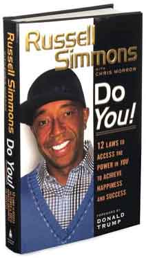 Hip-Hop Mogul Russell Simmons smiling on the cover of his book titled Do You