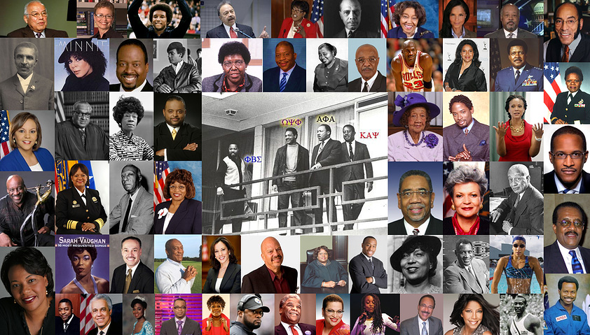 A Collage of Notable Black Greeks in Leadership