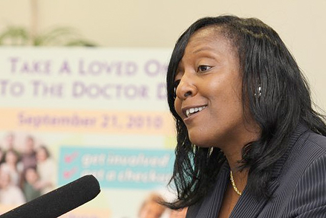 CHES Exam: Cynthia Harris, director of FAMU's Institute of Public Health in an interview.
