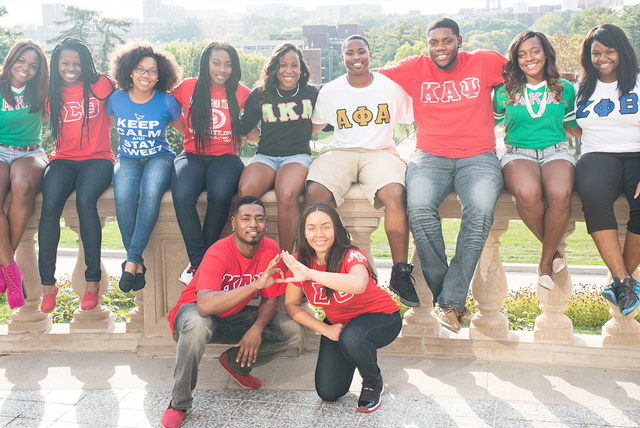 Members of the National Pan-Hellenic Council at The University of Iowa