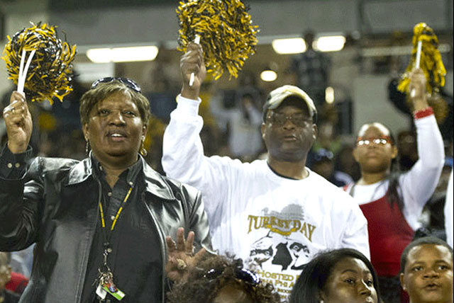 HBCU Classics: Alabama State University fans cheer in the stands at the Turkey Day Classic.