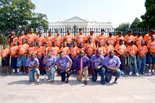 Edward Waters College Black Male College Explorers 2014 Summer Program on a 6-day trip to Washington D.C.