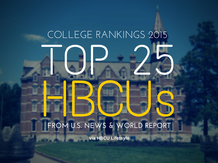 College Rankings 2015: Top 25 HBCUs from US News and World Report.