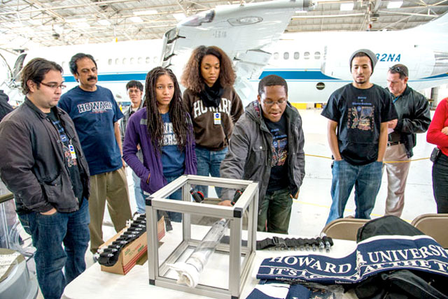 HBCU Engineering students, along with faculty mentors, from Howard University visited NASA Johnson Space Center's Ellington Field in Houston.