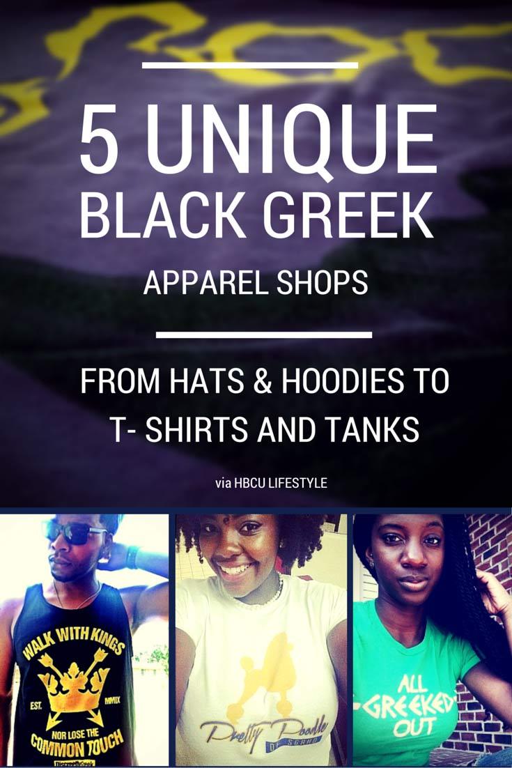 5 Unique Black Greek Apparel Shops Online