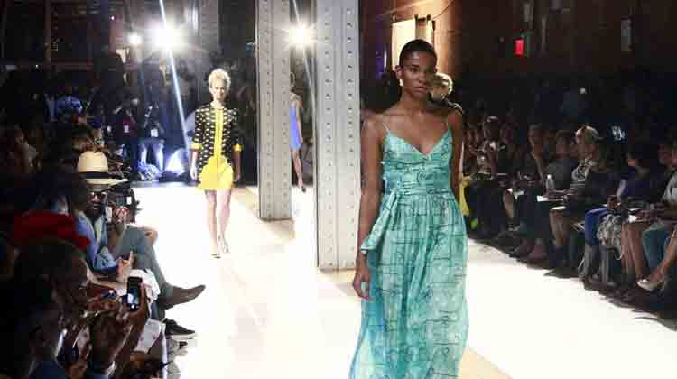 Models on the runway at the 2014 HFR Fashion Show and Style Awards.