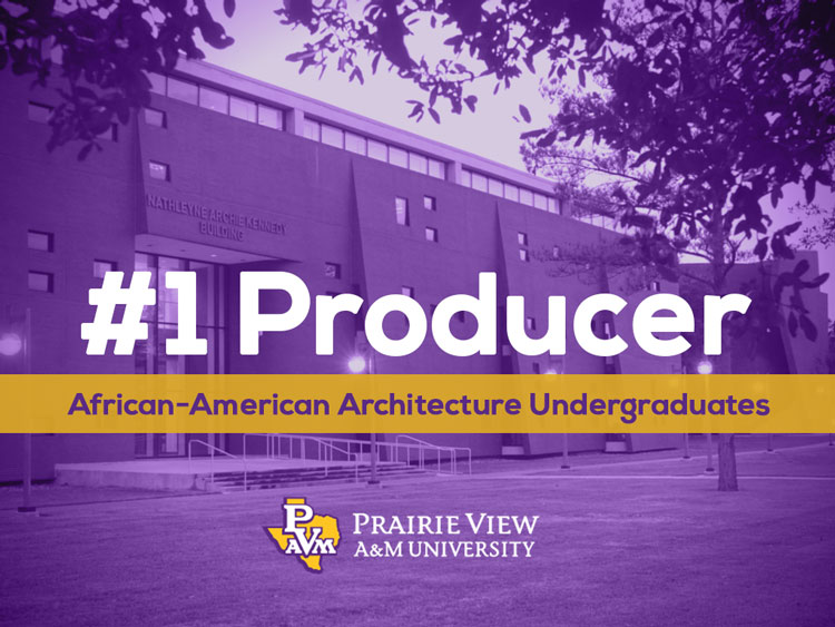 The Nathelyne Archie Kennedy Architecture Building on the campus of Prairie View A&M University.