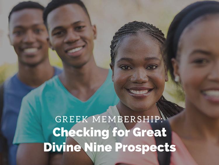 A group of Divine Nine prospective students