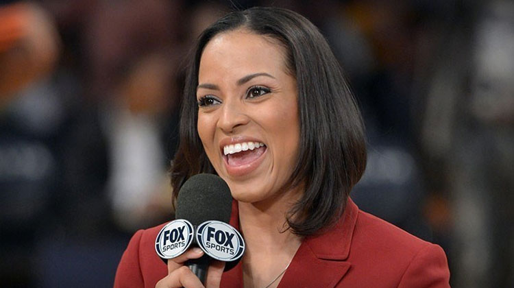 Coppin State alum Stephanie Ready reporting for Fox Sports.