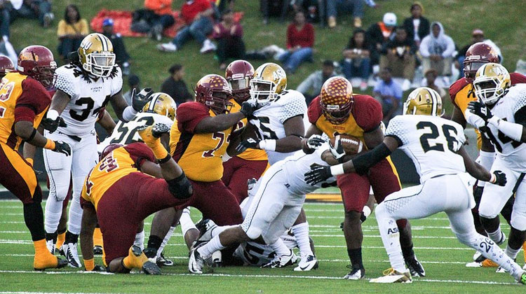 The last Turkey Day Classic in 2012 featuring Tuskegee University and Alabama State University.