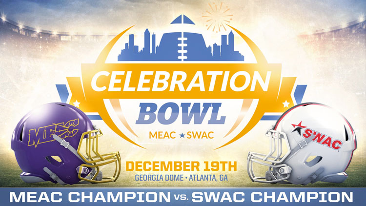 The Celebration Bowl, a championship style game, will pit the Mid-Eastern Athletic Conference (MEAC) champion against the Southwestern Athletic Conference (SWAC)