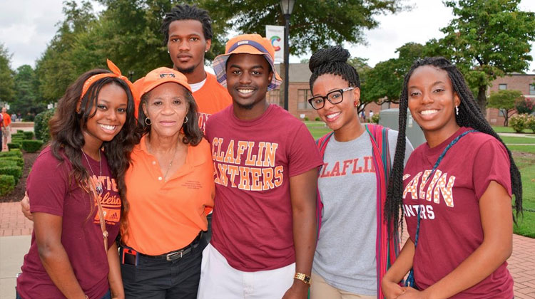 Claflin University students and faculty in group photo.