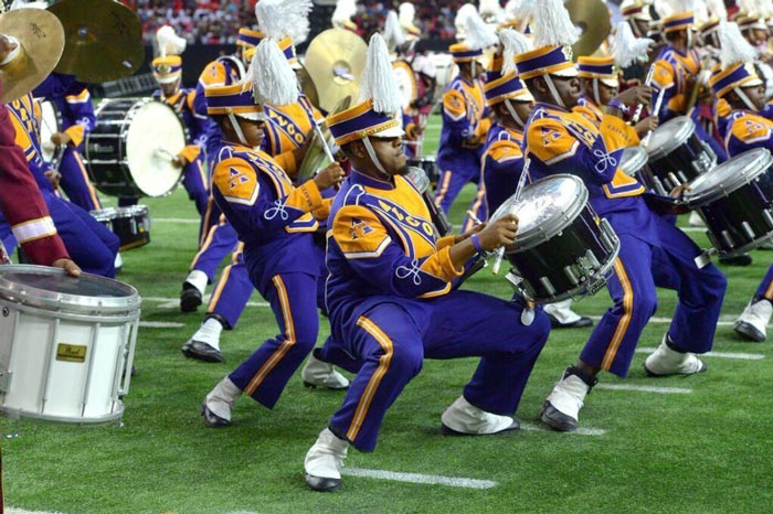 Alcorn State performs in the first ever Honda Battle of the Bands eight-band drumline finale