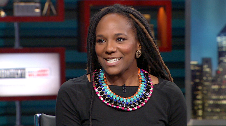 Activist Bree Newsome appears on The Nightly Show