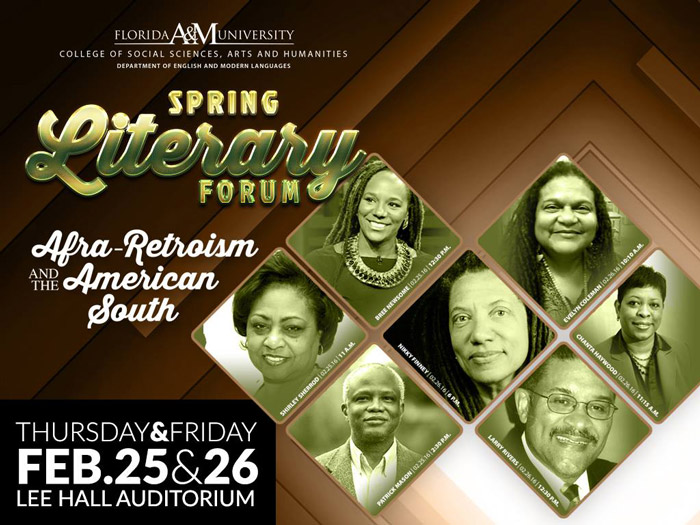 FAMU's Spring Literary Forum Flyer