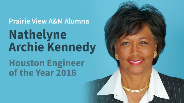 PVAMU Aluma Nathelyne Archie Kennedy Named Houston Engineer of the Year 2016