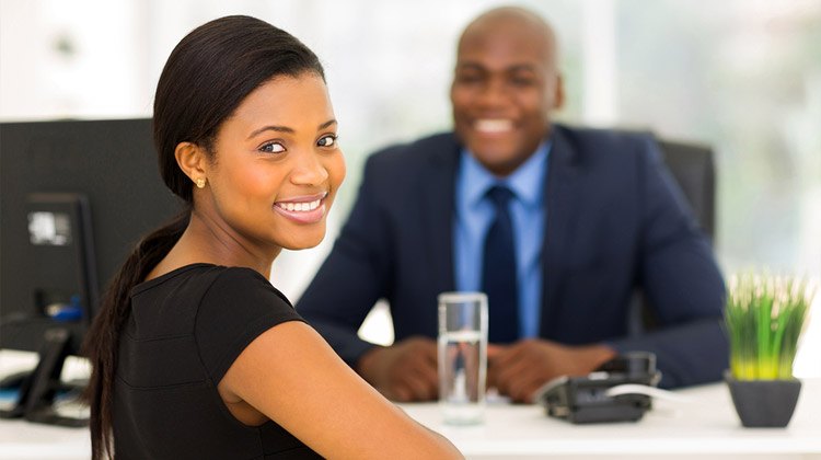 Black Sorority member is asked a series of behavioral interview questions during second round job interview.