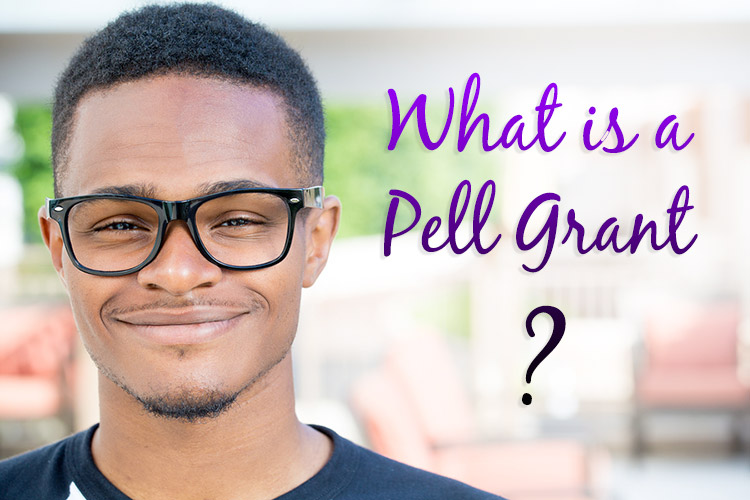 A young man with big glasses is an undergrad student smiling considering applying for a Pell Grant.