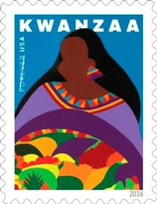 2016 Kwanzaa Stamp by Synthia Saint James
