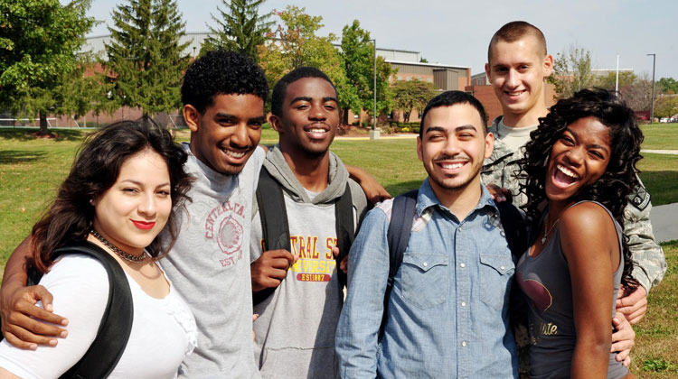 Students on the campus of Central State University enjoy the benefits of affordable Out-of-State tuition.