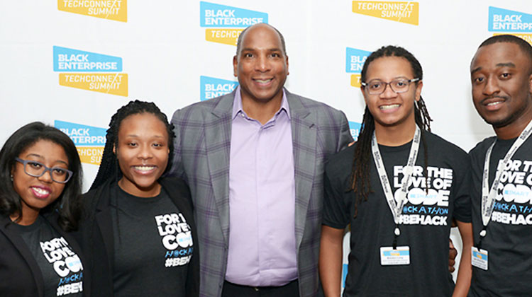 North Carolina A&T team members Angelica Willis, Brandon Long, Ashana Evans and Jean Beya took home the highest honors after winning the BE SMART Hackathon Challenge.