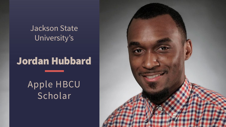 Jackson State Engineering Student Jordan Hubbard has been named an Apple HBCU Scholar.