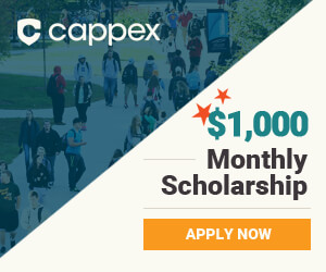 Cappex $1,000 Monthly Scholarship