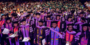 An image from Meharry Medical College STEM PhD Graduation ceremony.