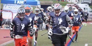 HBCU Lacrosse players run out on the field during the annual HBCU Allstar Weekend.
