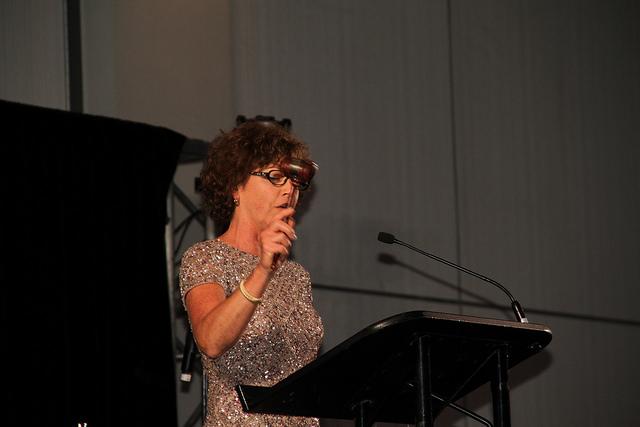 Kathy Hettick with gavel
