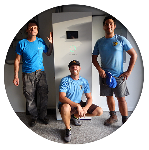 Sonnen battery backup unit and installation crew