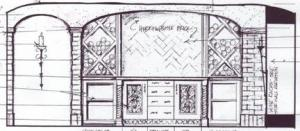 Cirque Terre Wine Room Interior Architecture Sketch Designed By Susan P. Berry