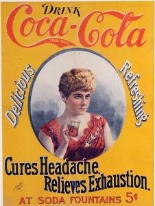 Coca-Cola collectibles, 1896 cameo