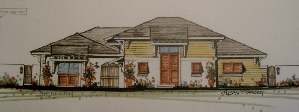 Beach House Remodel Concept B: Mid Cost Version: Ponte Vedre, Florida: West Indies Style: New Front Elevation
