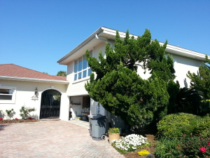 Ponte Vedra Beach House Remodel: Existing Gate, Garage and Front Elevation