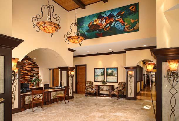 Portfolio-Commercial-Seaside National Bank, Sarasota, Florida, Lobby. Remodel of an existing space. Susan Berry Designer