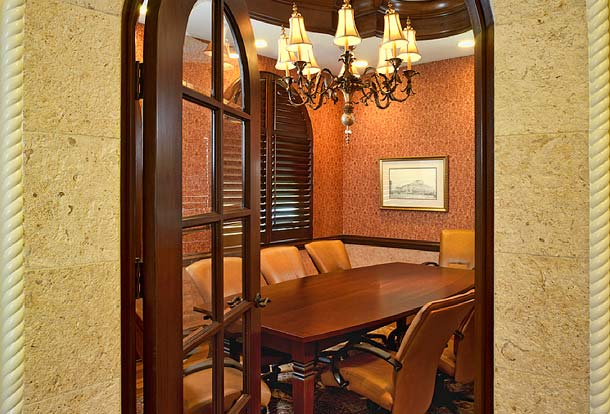 Portfolio-Commercial-Seaside National Bank, Winter Park, Florida, Conference Room, Susan Berry Design