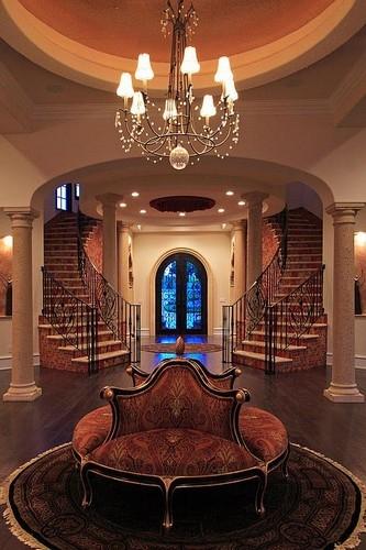 Entry Reception: Cinque Terra, Modern Florida Mediterranean Street of Dreams home, Interior Architectural Designer, Susan P, Berry