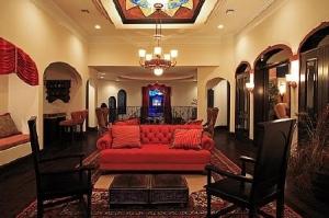 Game Room View to Front: Cinque Terra, Modern Florida Mediterranean Street of Dreams home, Interior Architectural Designer, Susan P, Berry