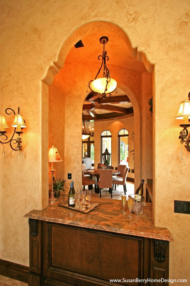 Mediterranean Mansion, Bar and Butlers Pantry, Susan Berry Home Building Designer