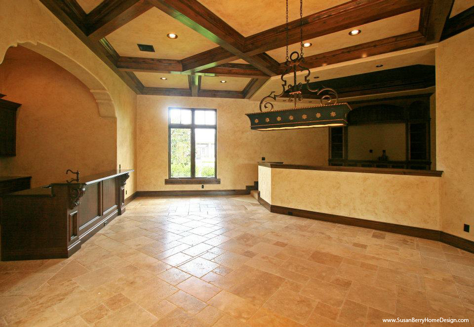 Mediterranean Mansion, Game Room, Susan Berry Home Building Design