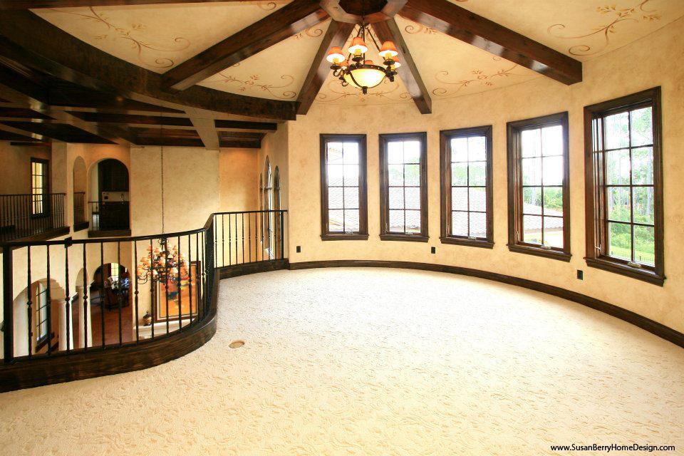 Mediterranean Mansion, Piano Loft, Susan Berry Home Building Designer