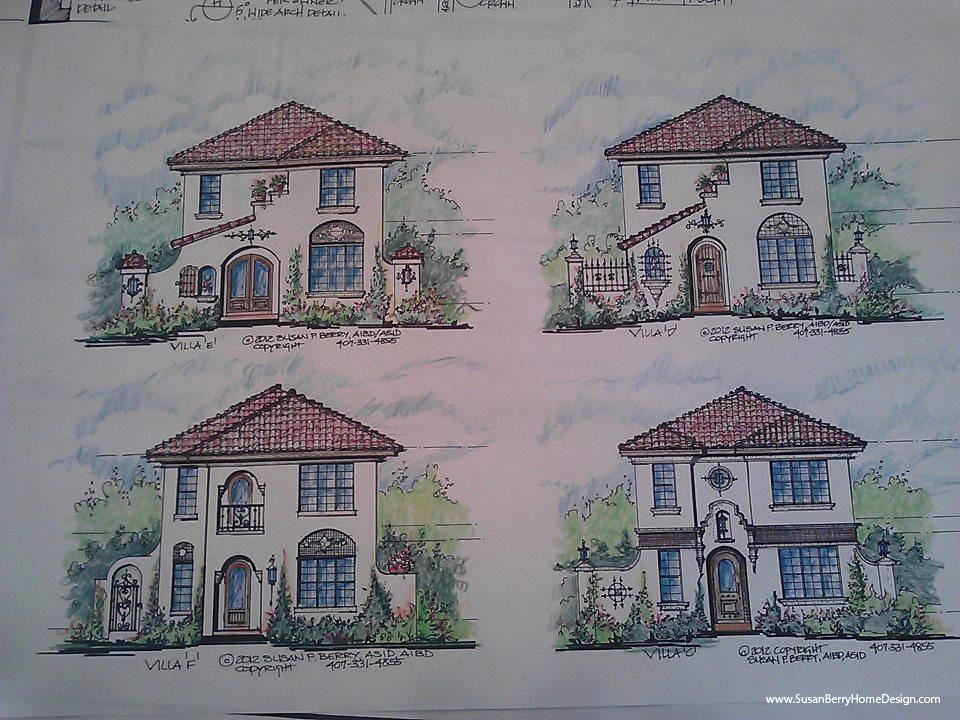 Mediterranean-Narrow Lot, Urban In Fill homes, by Susan Berry Design Home Designer