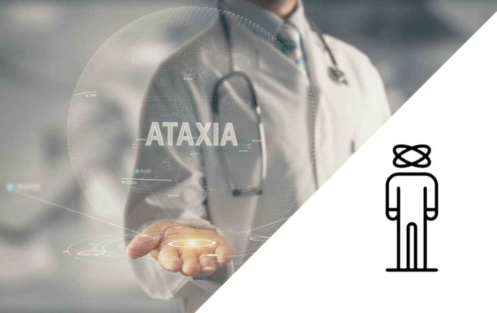 doctor holding ataxia word