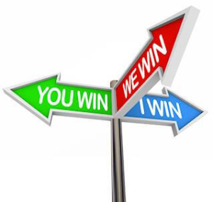 You and I Win We All Are Winners With Core Values - 3 Way Street Sign