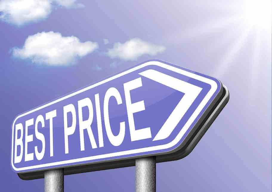 Sign that points towards BEST PRICE