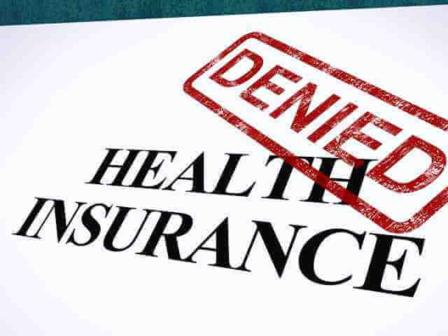 Health Insurance with a red stamped. Your hospital bill will be much higher if you are counting on health insurance that does not deliver for one reason or another.